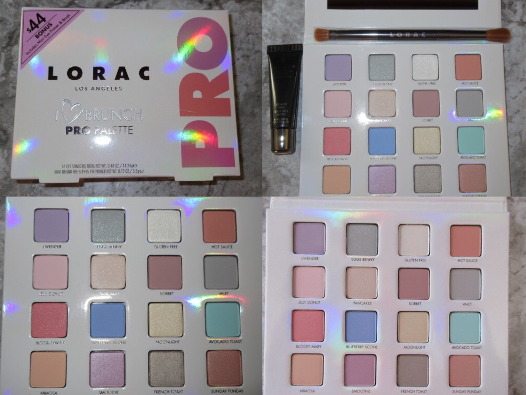 Beauty haul LORAC palette