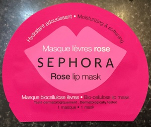 Sephora lip mask+rose lip mask+moisturizing and softening lip mask+review