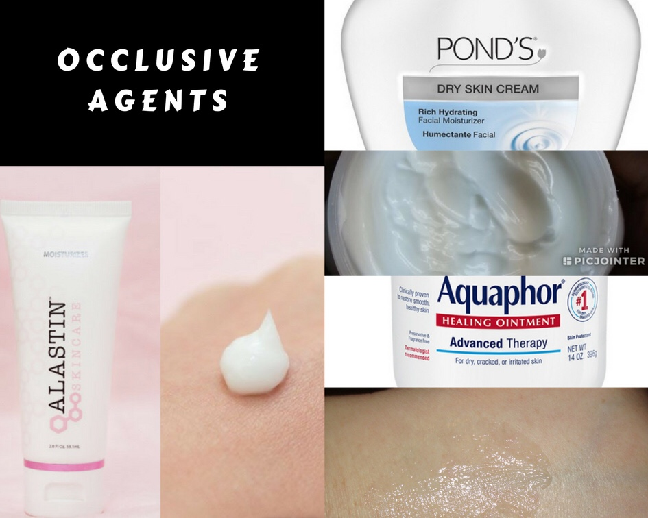 Moisturizers: humectants. occlusive agents. emollients. Alastin skincare moisturizer aquaphor ointment ponds dry skin tacky skin