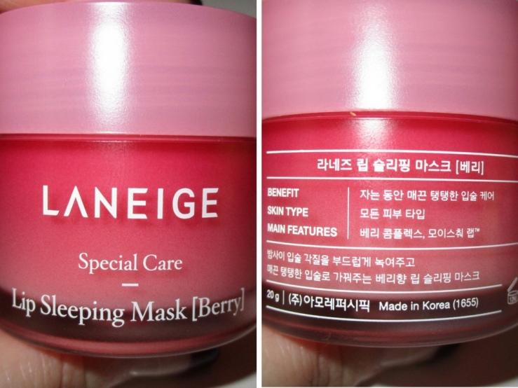 Laneige lip sleeping mask, lip care, skincare, k-beauty, sleep mask