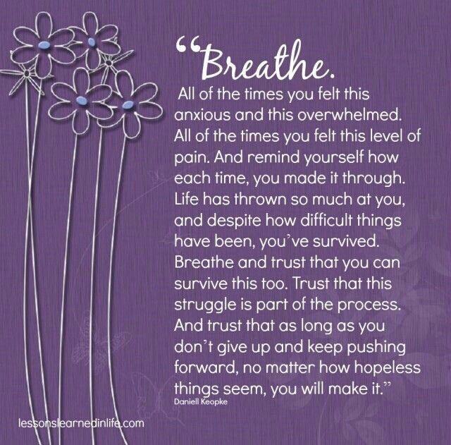 Motivational Monday just breathe