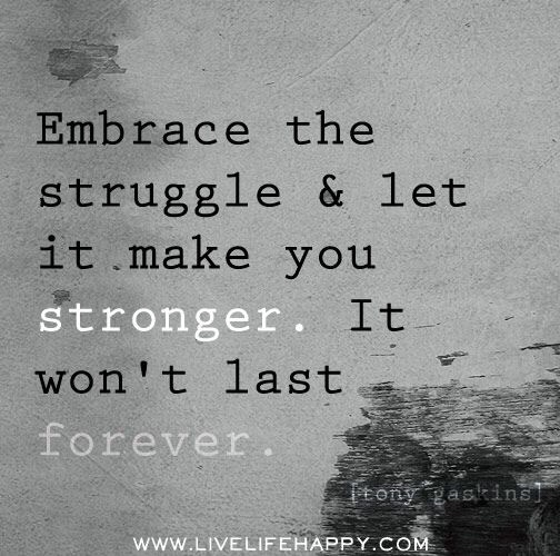 Motivational Monday life struggles quote don't give up