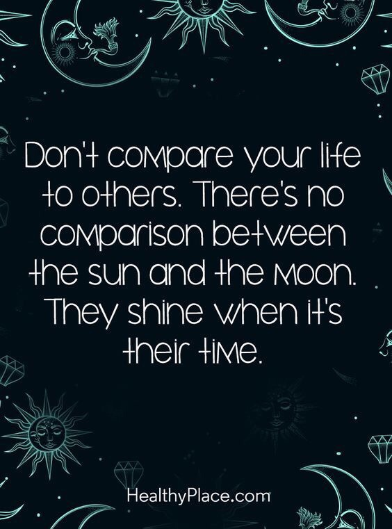 Motivational Monday don't compare love yourself