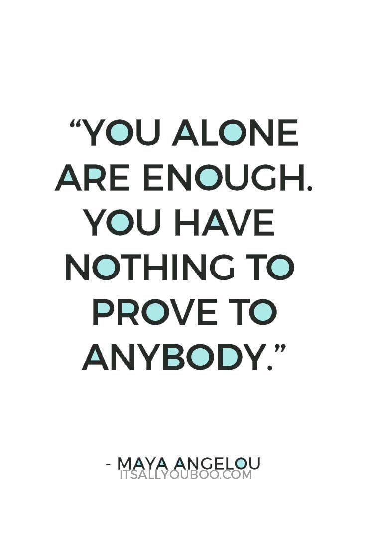 Motivational Monday quotes you are enough motivation