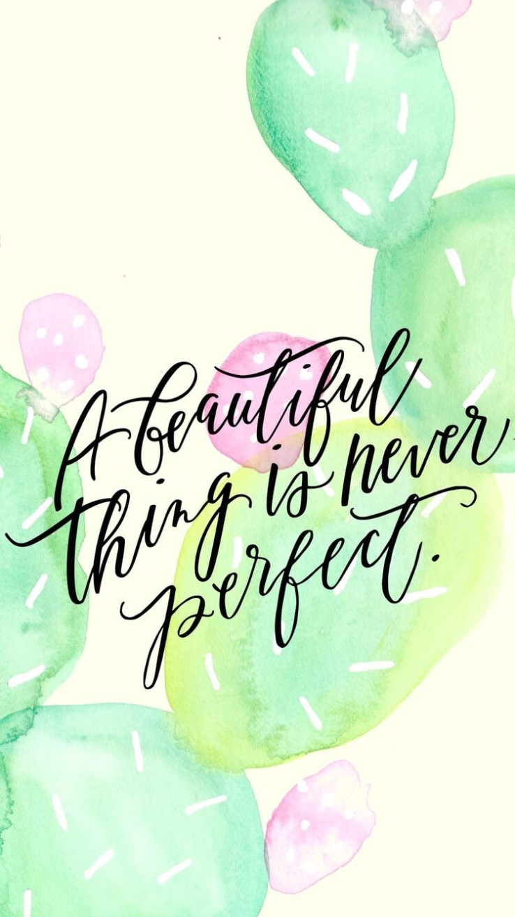 Motivational Monday beauty is imperfection